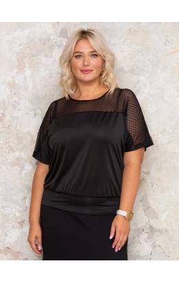 блуза Лолита (черный/горох)