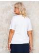блуза Лолита (молочный/горох)