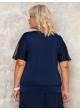 блуза Лолита (темно-синий/горох)