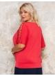 блуза Лолита (красный/лепестки)