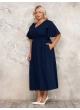 платье Ланвин (темно-синий)