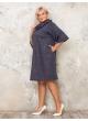 платье Берта (темно-синий/золото)