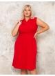 платье Офисное (красный)