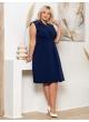 платье Офисное (темно-синий)