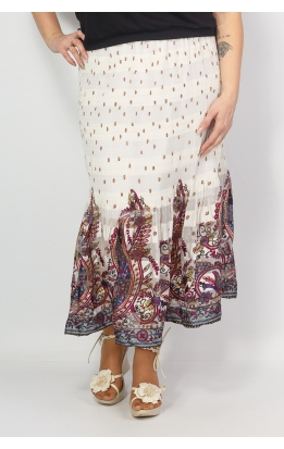 юбка Июнь (принт/фуксия)
