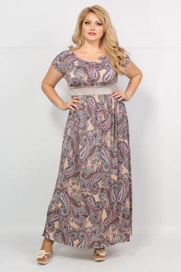 платье Лана (беж/принт огурцы)